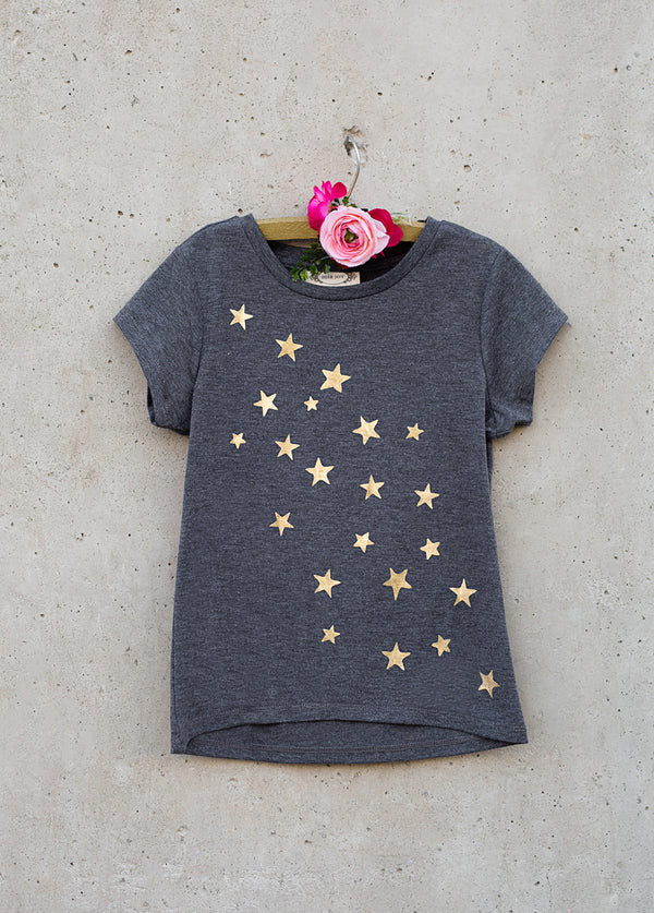 Stardust Tee in Charcoal