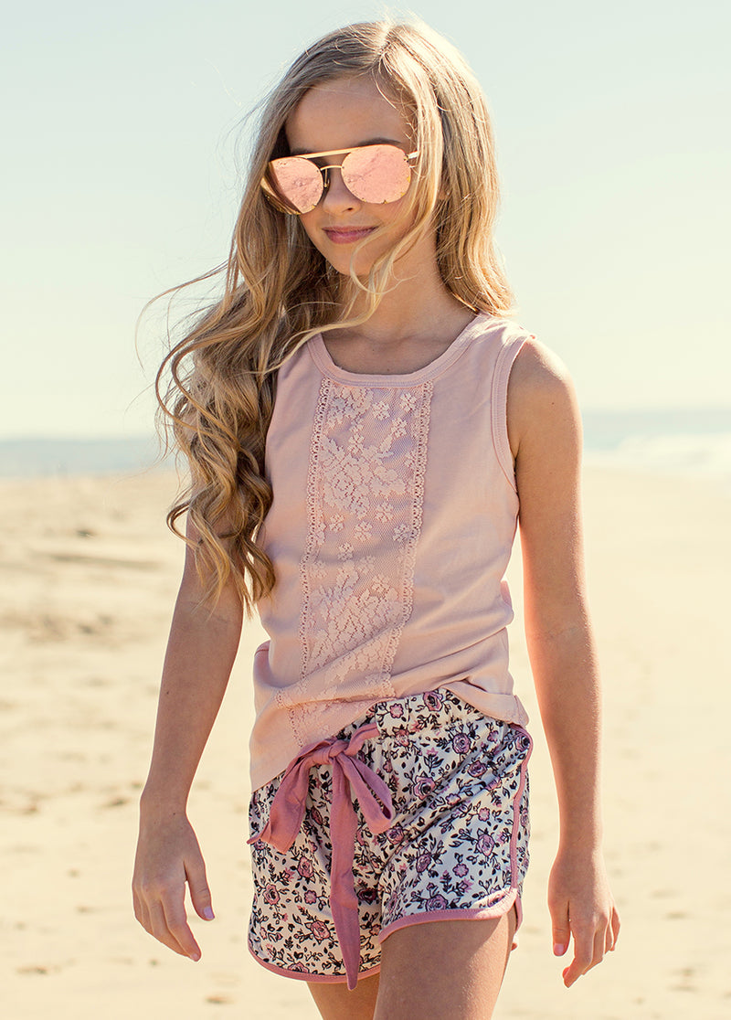 Stevie Short Set in Pink and Floral