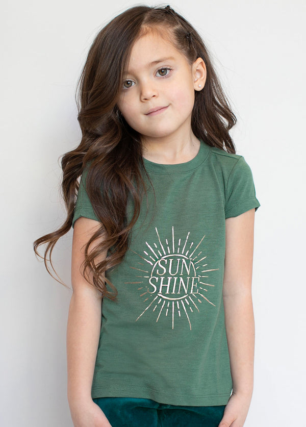 Sunshine Graphic Tee in Sage