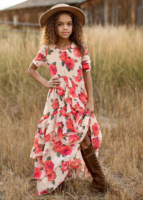 *NEW* Taliah Dress in Red Greta Floral