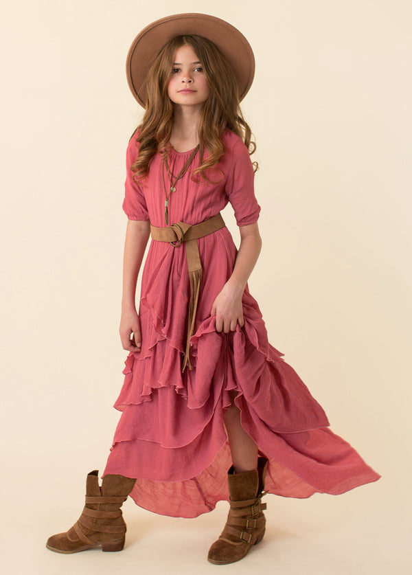 Taliah Dress in Dusty Coral
