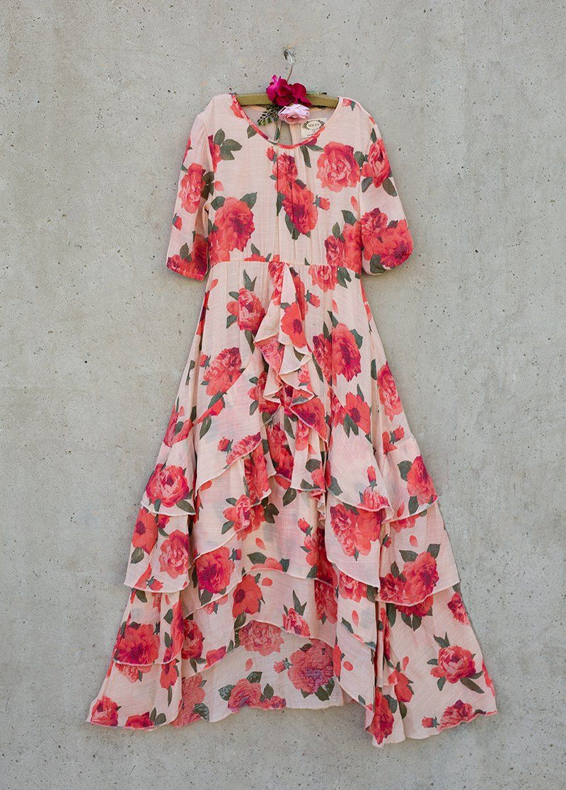 Taliah Dress in Red Greta Floral