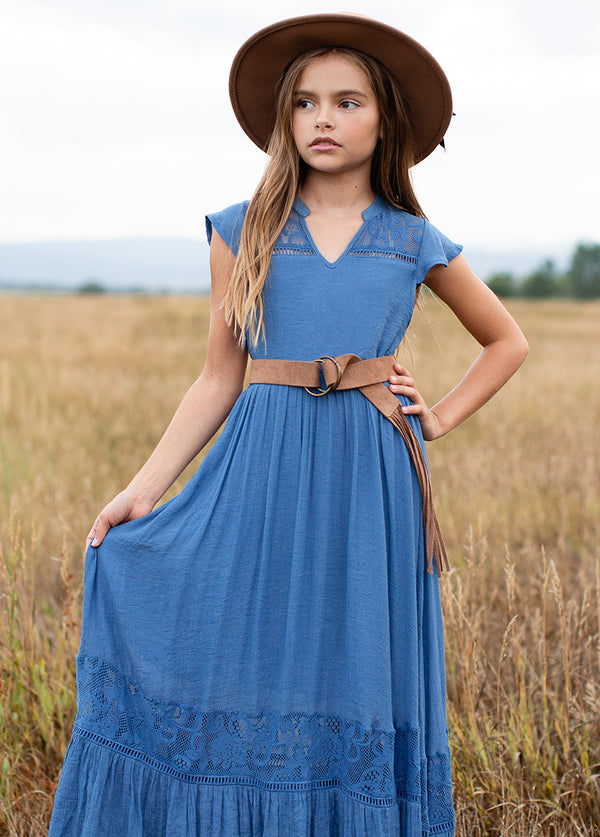 Teagan Dress in Cornflower Blue