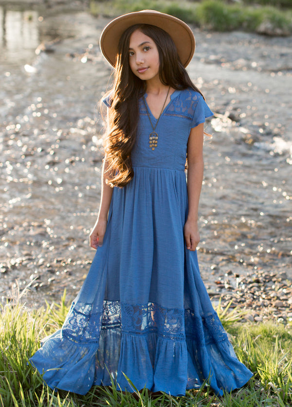 *NEW* Teagan Dress in Cornflower Blue