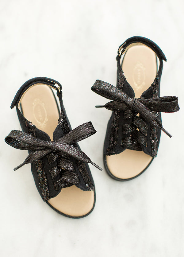 *NEW* Tessa Lace-Up Sandals in Black