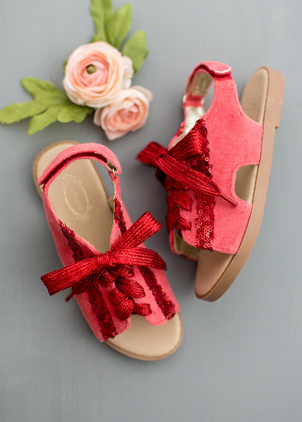 *NEW* Tessa Lace-Up Sandals in Red