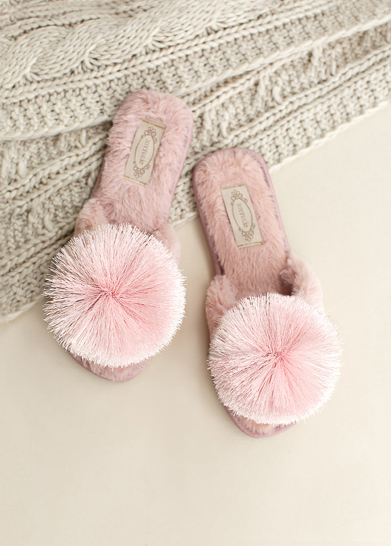 Tia Pom Slipper in Blush