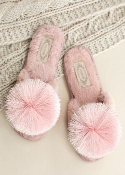 Tianna Pom Slipper in Blush