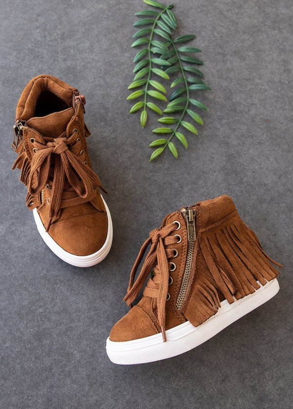 *NEW* Tristen Fringe High Top in Sable