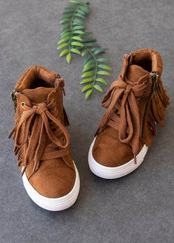 Tristen Fringe High Top in Sable