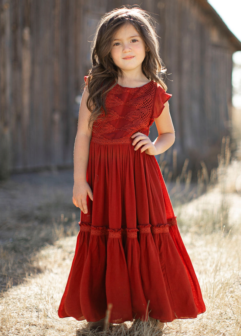 *NEW* Viola Dress in Crimson