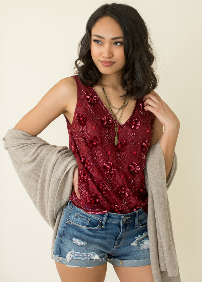 Violetta Top in Red