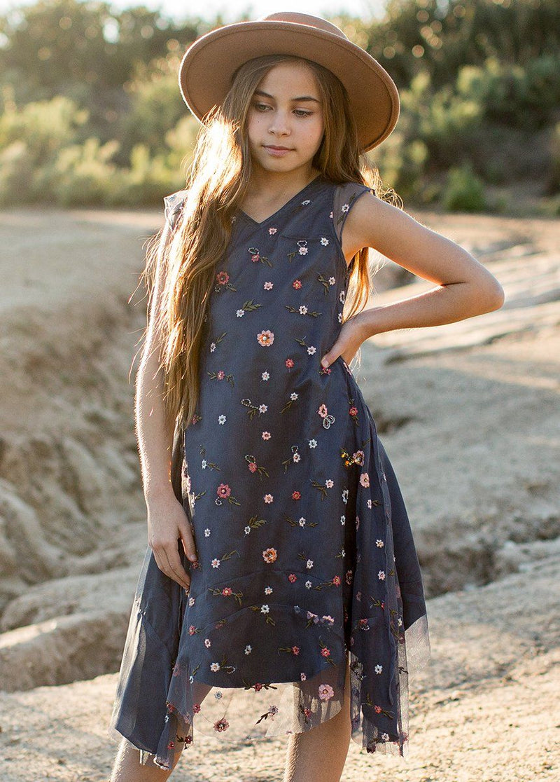 *NEW* Willow Dress in Dusty Blue Floral