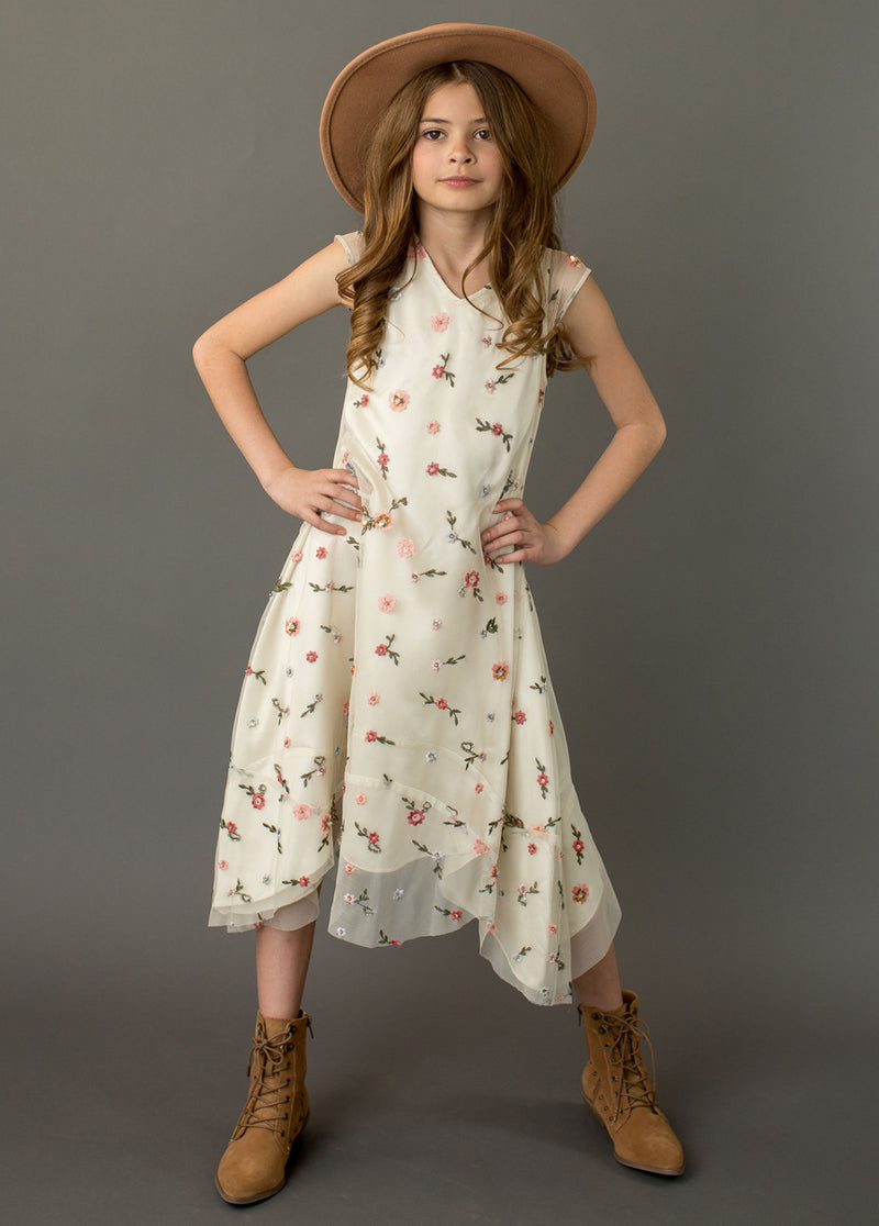 Willow Dress in Champagne Floral