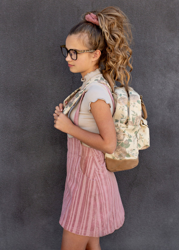 Jeanie Backpack in Mauve Floral