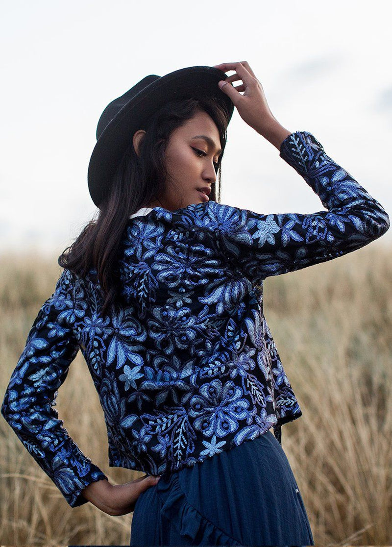 Zephyr Jacket in Blue Floral