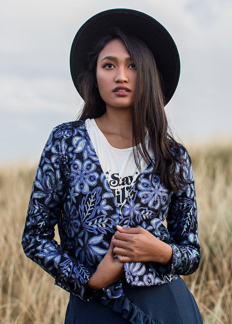 *NEW* Zephyr Jacket in Blue Floral