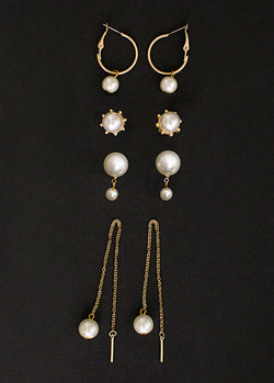 *NEW* Zyla Earring Set in White