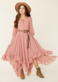 Abrielle Dress in Misty Rose