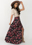 Bolance Skirt in Dark Floral