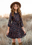 Aerona Dress in Western Navy Floral