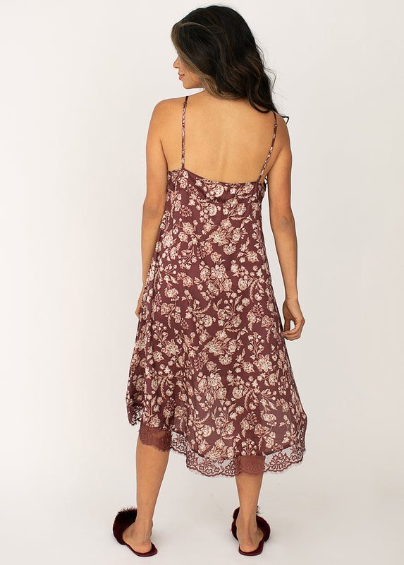 Aileen Nightgown in Damask Floral Print