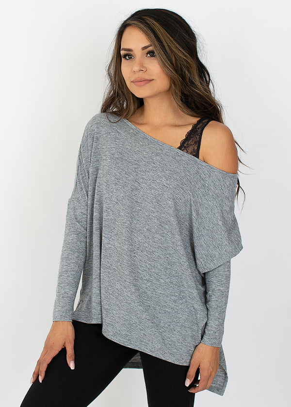 Aisha Top in Gray