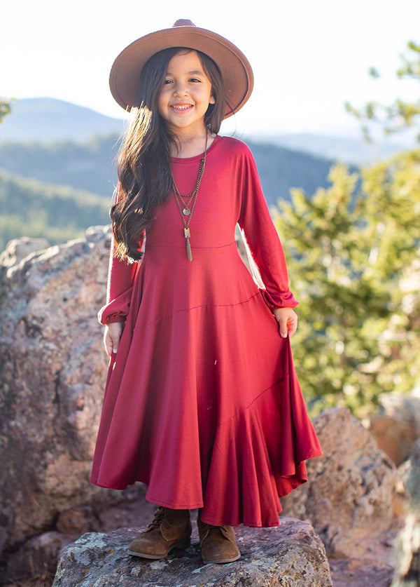 Aislin Dress in Red