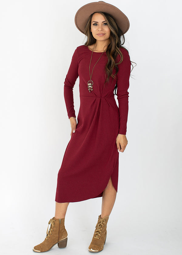 Alenka Dress in Berry