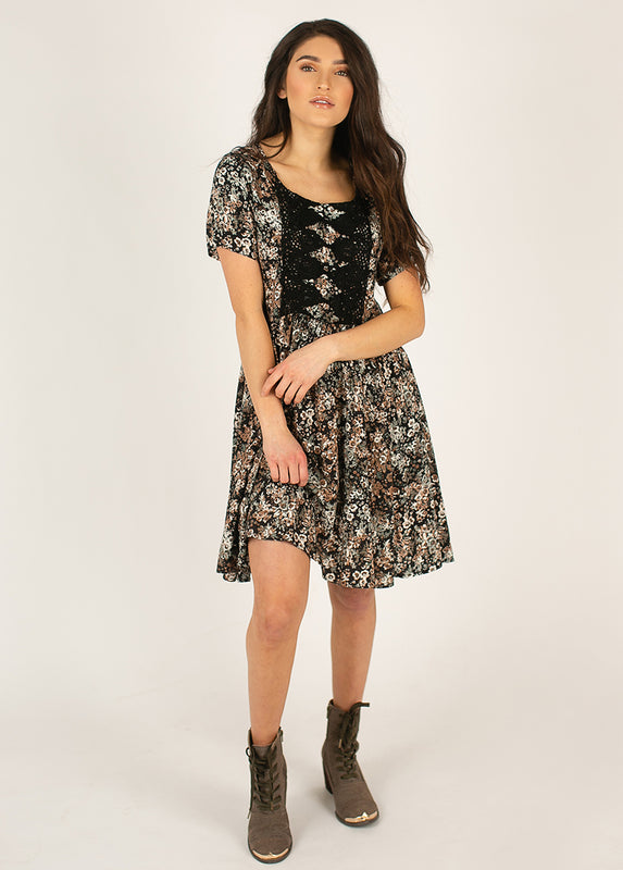 *NEW* Ally Dress in Black Camo Floral