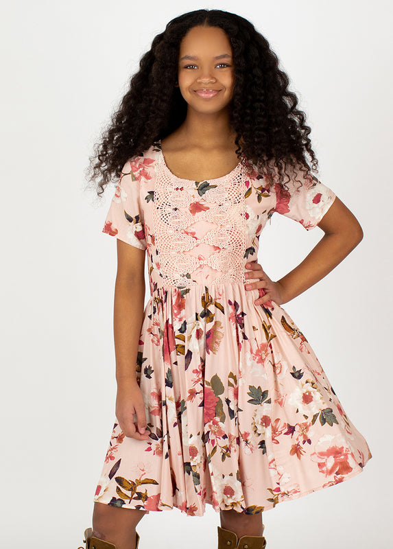 *NEW* Ally Dress in Dusty Pink Spring Floral