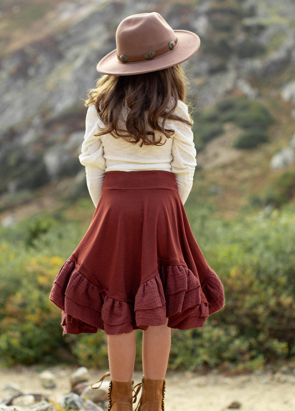 Amandine Skirt in Brick