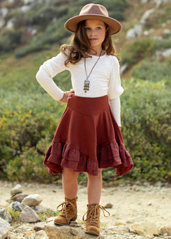 *NEW* Amandine Skirt in Brick