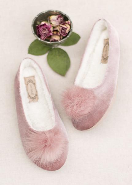 Amaya Slipper in Rose