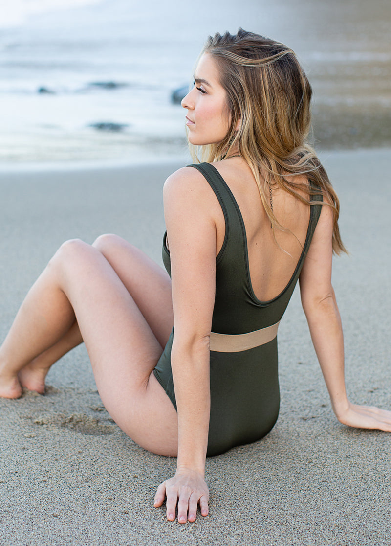 *NEW* Annika Swimsuit in Olive Night