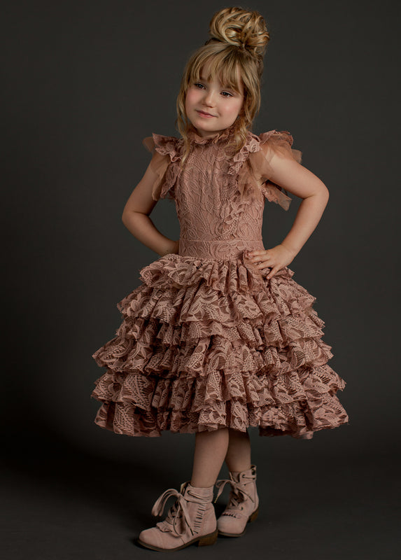 Anouk Dress in Pink Nude