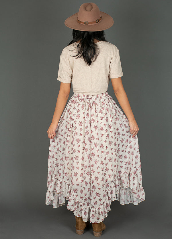 *NEW* Arely Skirt in Bone White Caroline Floral