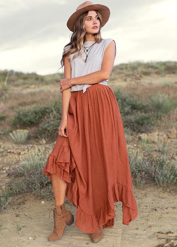 *NEW* Arely Skirt in Rust