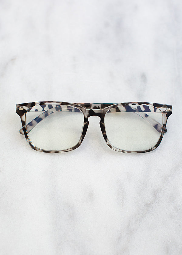 *NEW* Ariyah Blue Light Glasses in Snow Leopard