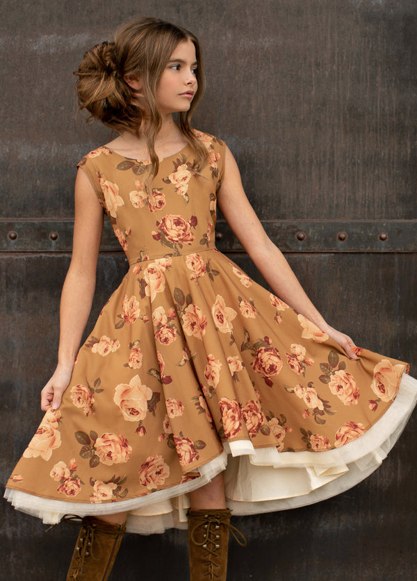 *NEW* Malaya Dress in Ochre Floral