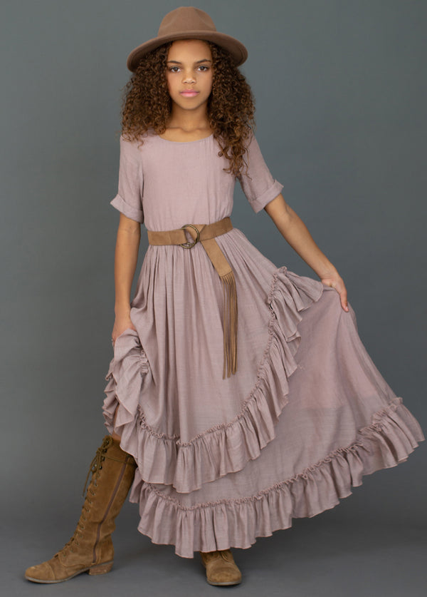 *NEW* Cedrica Dress in Dusty Pink
