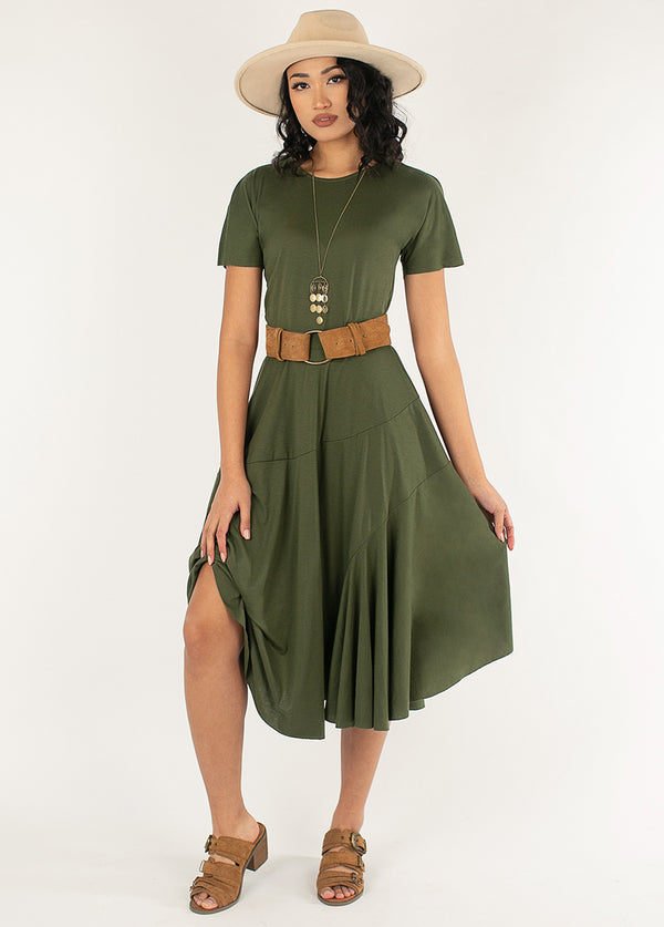 *NEW* Aviva Dress in Olive