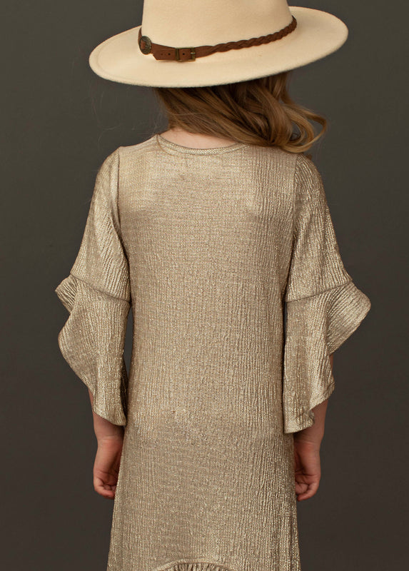 Ayanna Dress in Sparkle Taupe