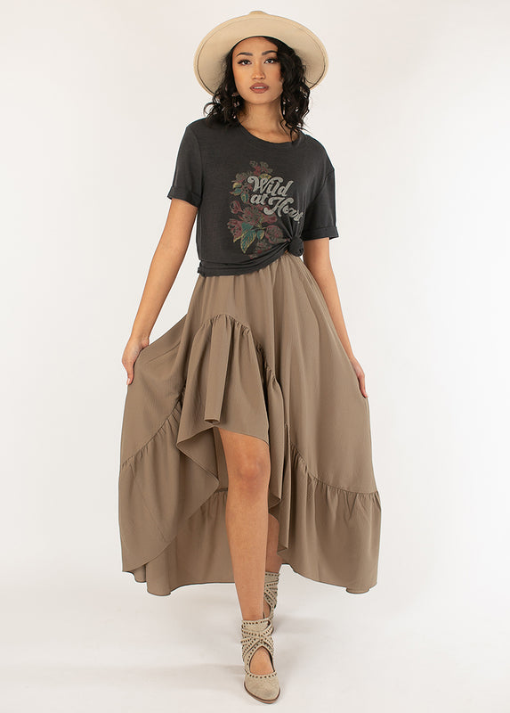 *NEW* Bae Skirt in Dusty Taupe