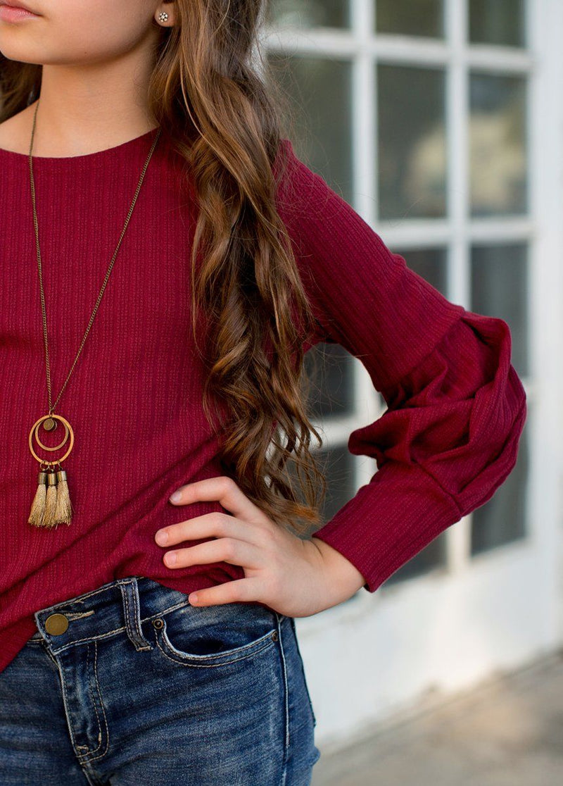 Bailey Sweater in Burgundy
