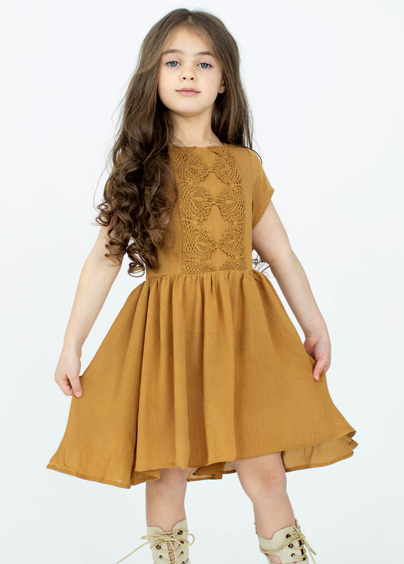 *NEW* Allyza Dress in Yellow Ochre
