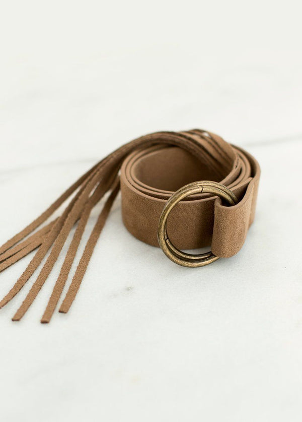 *SOLD OUT* Laurel Fringe Belt in Brown