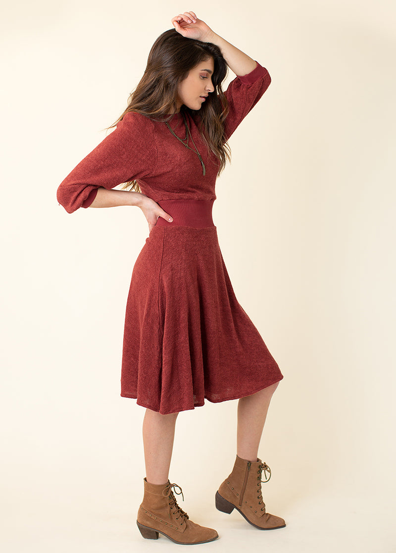 Beth Dress in Rust