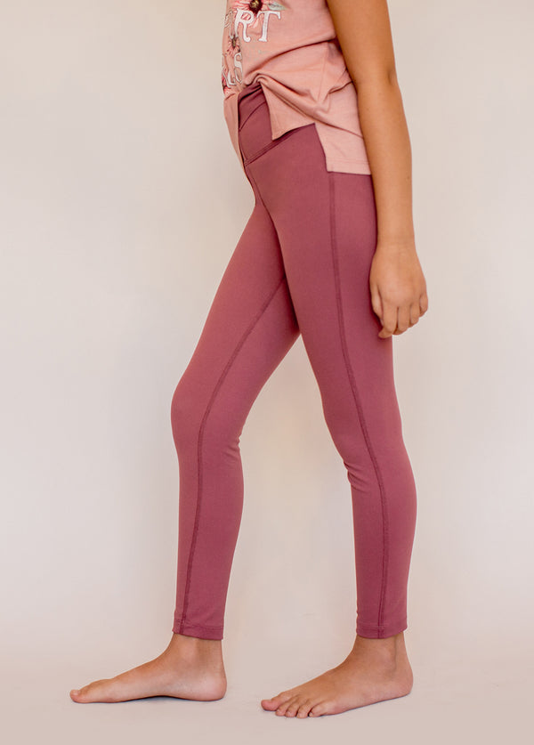 Billow Legging in Adobe Rose