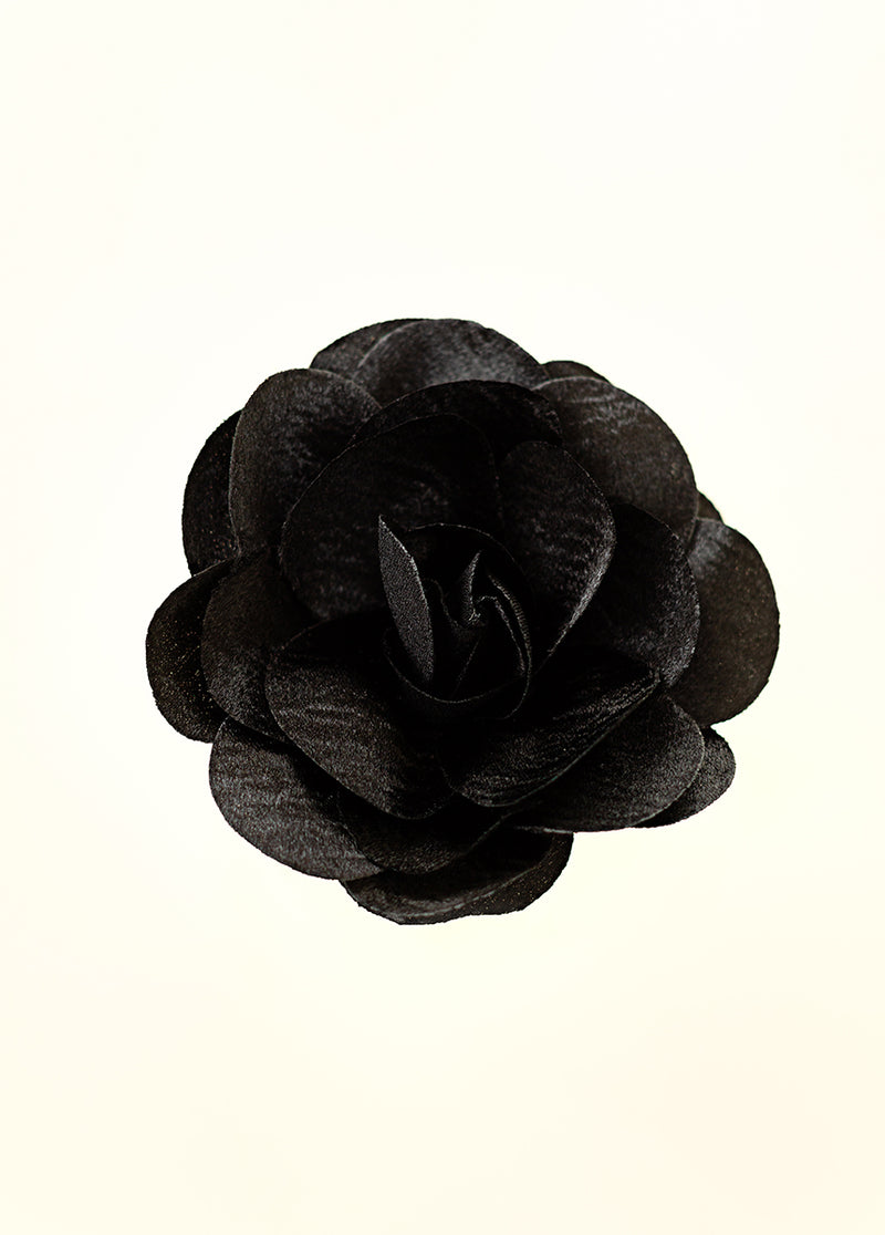 Liani Flower Brooch in Black